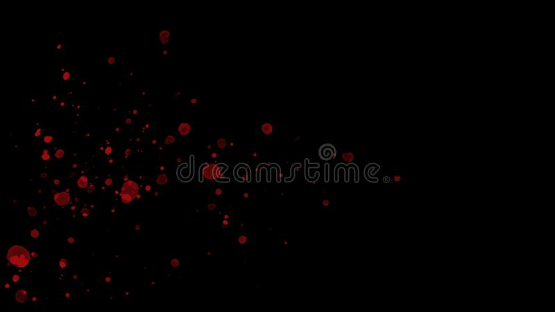 Abstract red splashes on the left of black background vector illustration