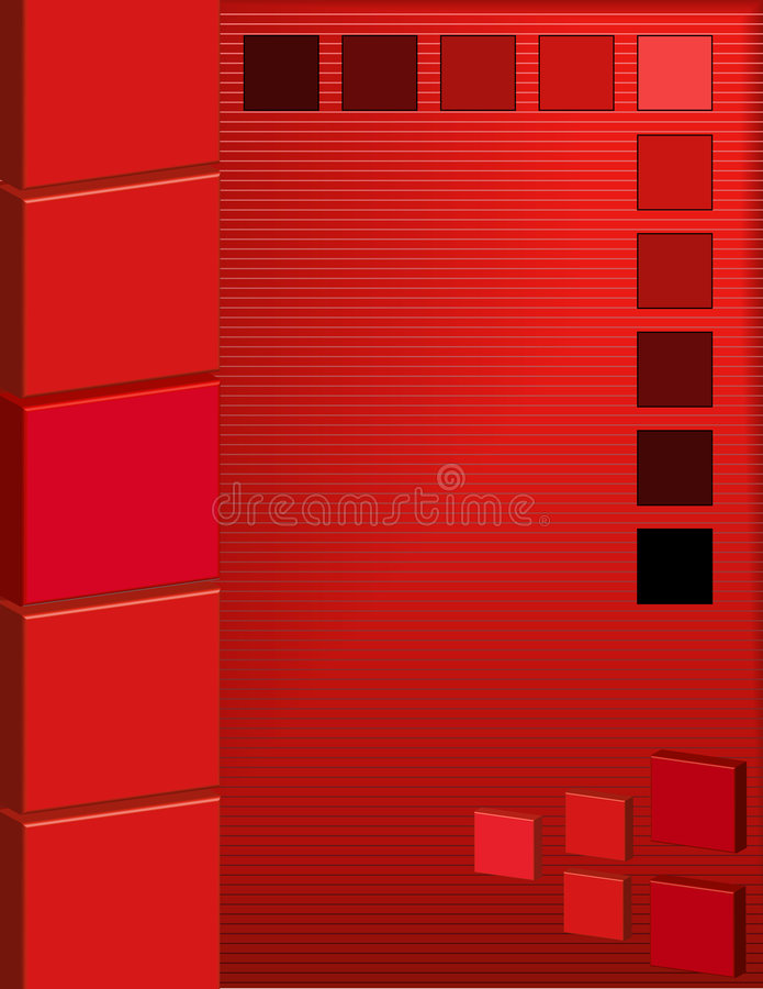 Download Abstract Red Square Background Stock Illustration - Illustration: 8441042