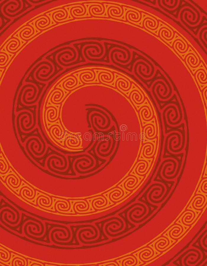 Abstract Red Swirl Background stock image