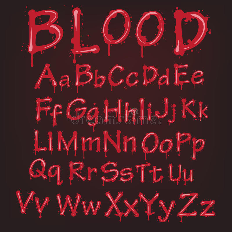 Download Abstract Red Vector Blood Alphabet. Royalty Free Stock Photos - Image: 21726568