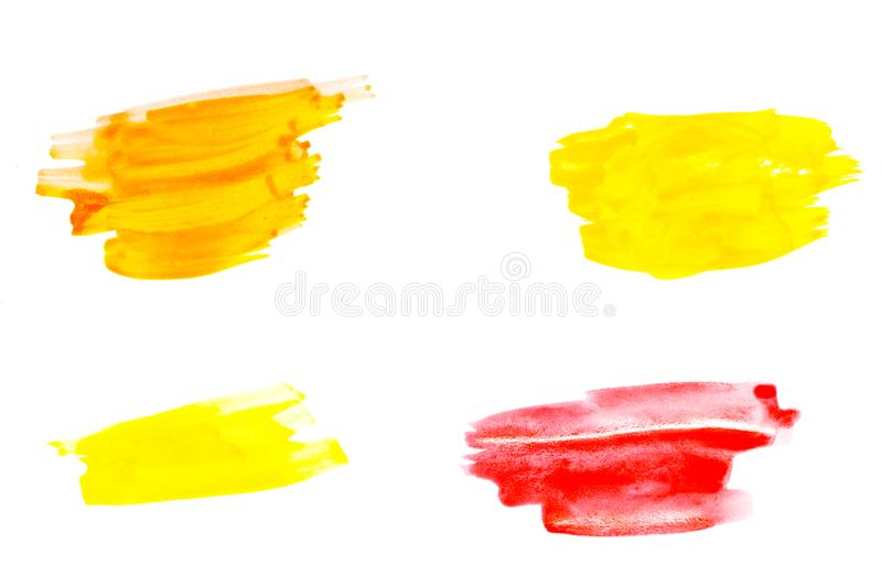Abstract red watercolor on white background.The color splashing stock photography
