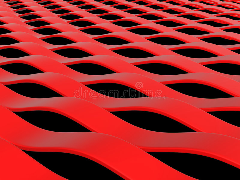 Abstract red waves vector illustration