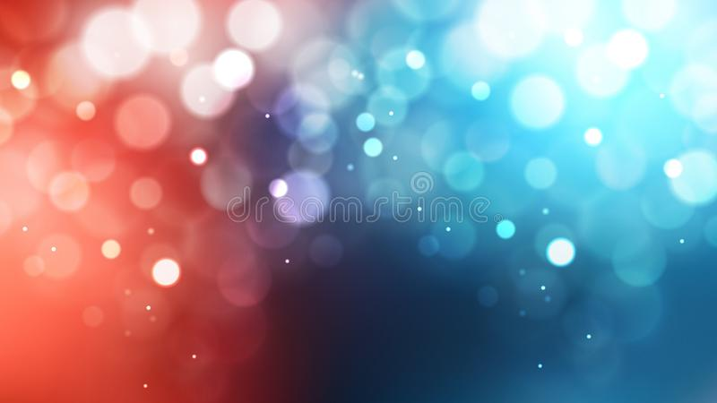 Abstract Red White and Blue Defocused Lights Background. Beautiful elegant Illustration graphic art design royalty free illustration