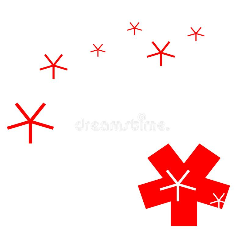 Abstract red and white objects. stock images