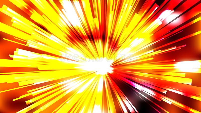 Abstract Red White and Yellow Radial Background royalty free illustration