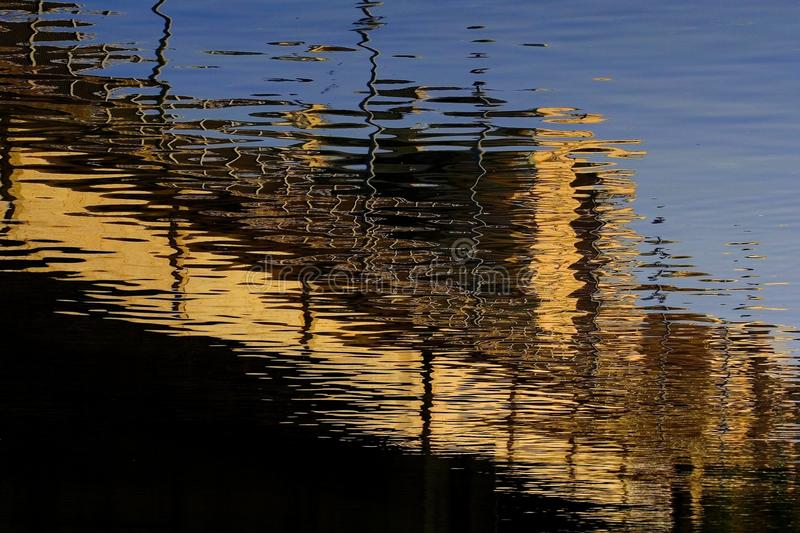 Abstract reflections royalty free stock photography
