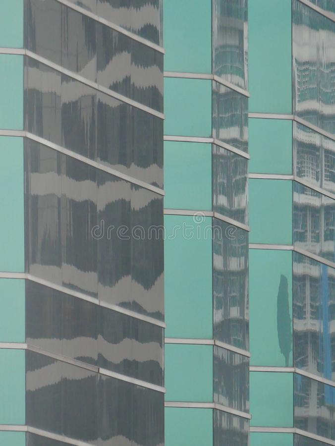 Abstract reflections of buildings stock photo