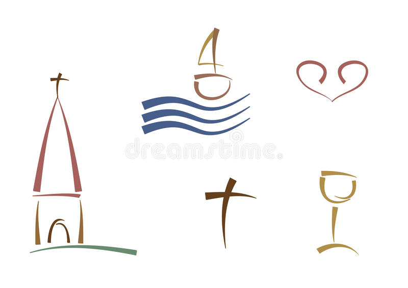 Abstract Religious Symbols Royalty Free Stock Image