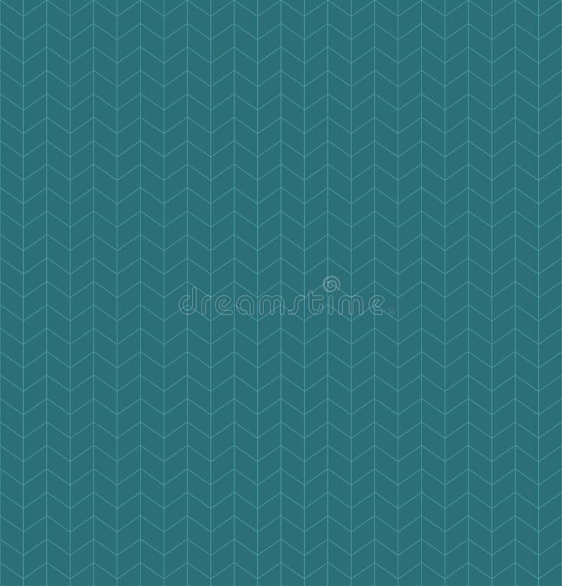 Abstract repeating seamless pattern with blue rhombus shape sign. Outline border stroke background. Eps 10 line art vector stock illustration