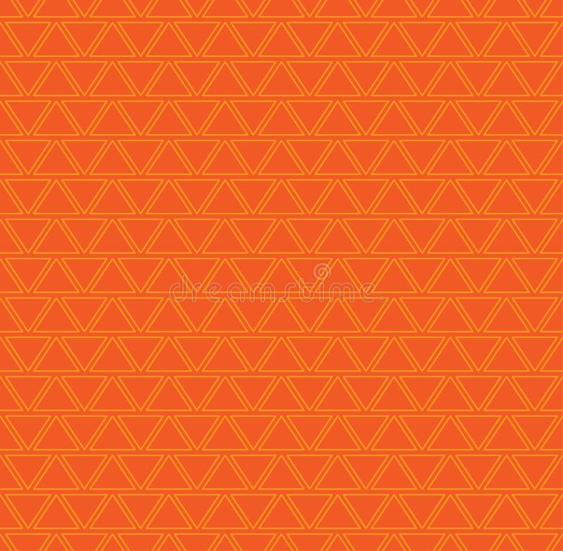 Abstract repeating seamless summer pattern with oranges triangles shape sign border stroke background. Eps 10 vector illustration stock illustration