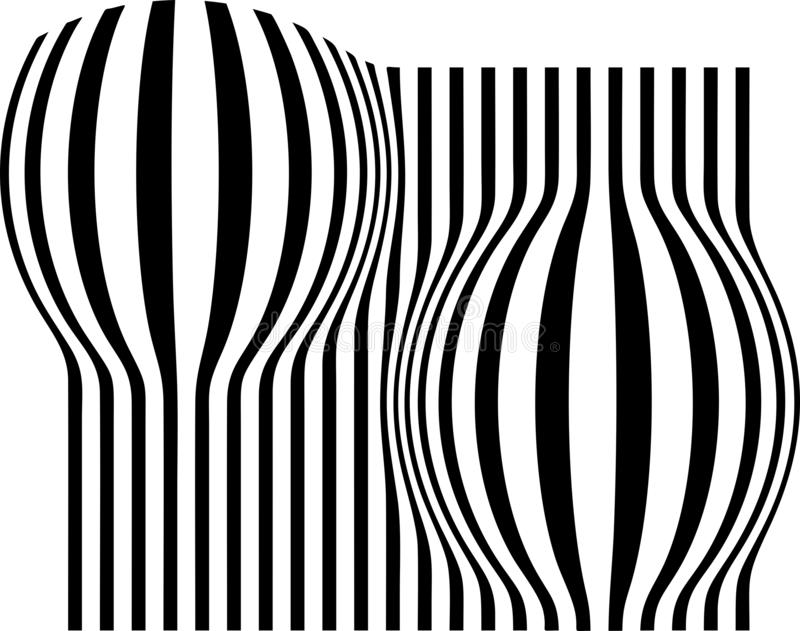 Abstract repel black strips white background vector illustration wallpaper. Many uses for advertising, book page, paintings, printing, mobile backgrounds, book vector illustration