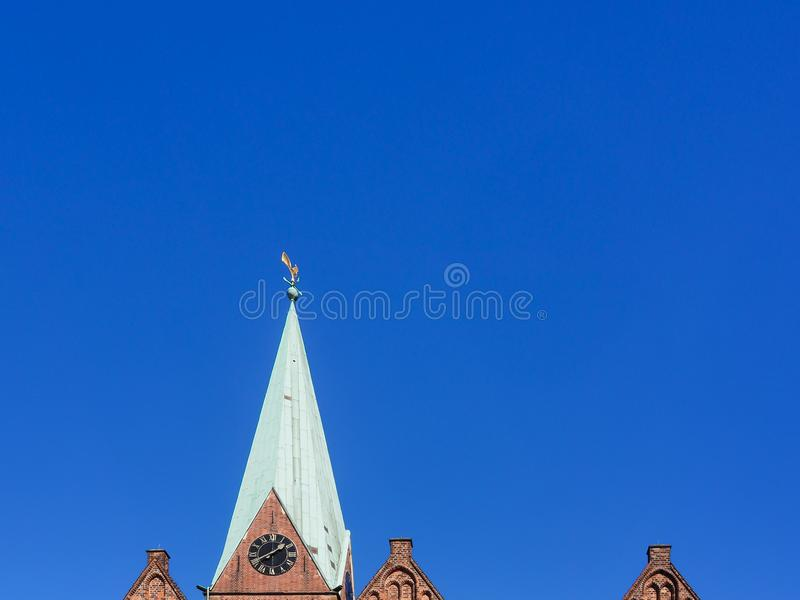 Abstract representation of the church St. Martini in Bremen, Germany royalty free stock photo