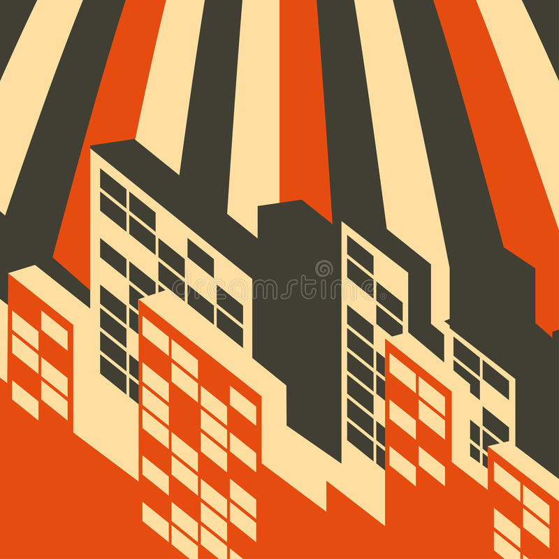 Download Abstract Retro City Background Stock Vector - Image: 29002165