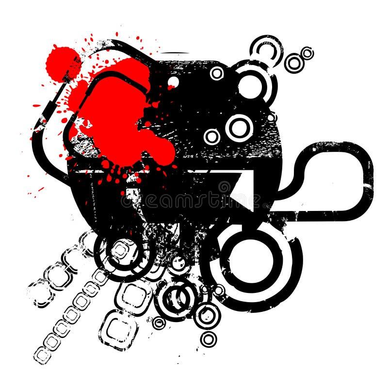 Abstract retro design vector royalty free illustration