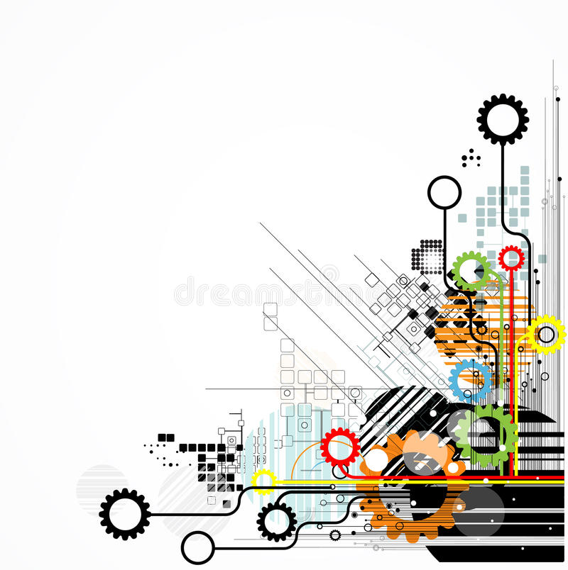 Abstract retro digital computer technology business background vector illustration