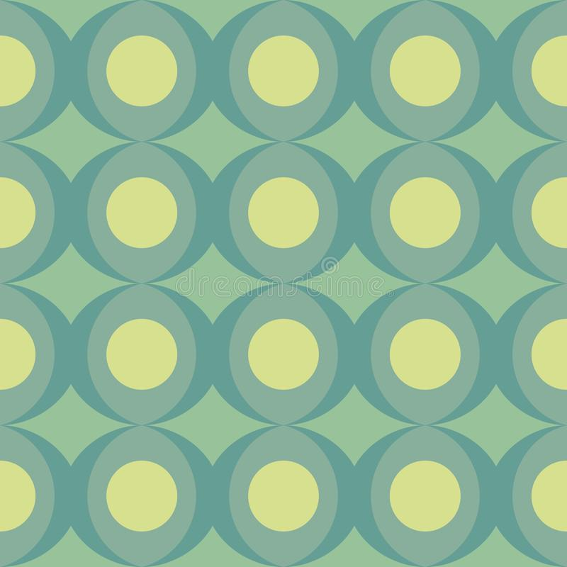 Abstract retro dotted flat seamless pattern with geometric garlands. Timeless simple pattern vector illustration