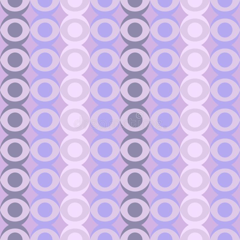 Abstract retro dotted flat seamless pattern with geometric garlands. Timeless simple pattern stock illustration