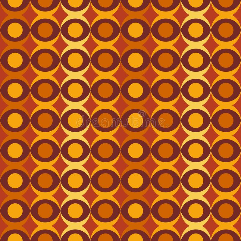 Abstract retro dotted flat seamless pattern with geometric garlands. Timeless simple pattern royalty free illustration