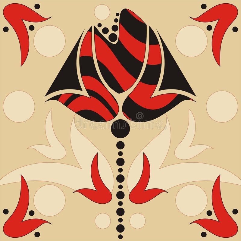 Abstract retro flower royalty free illustration