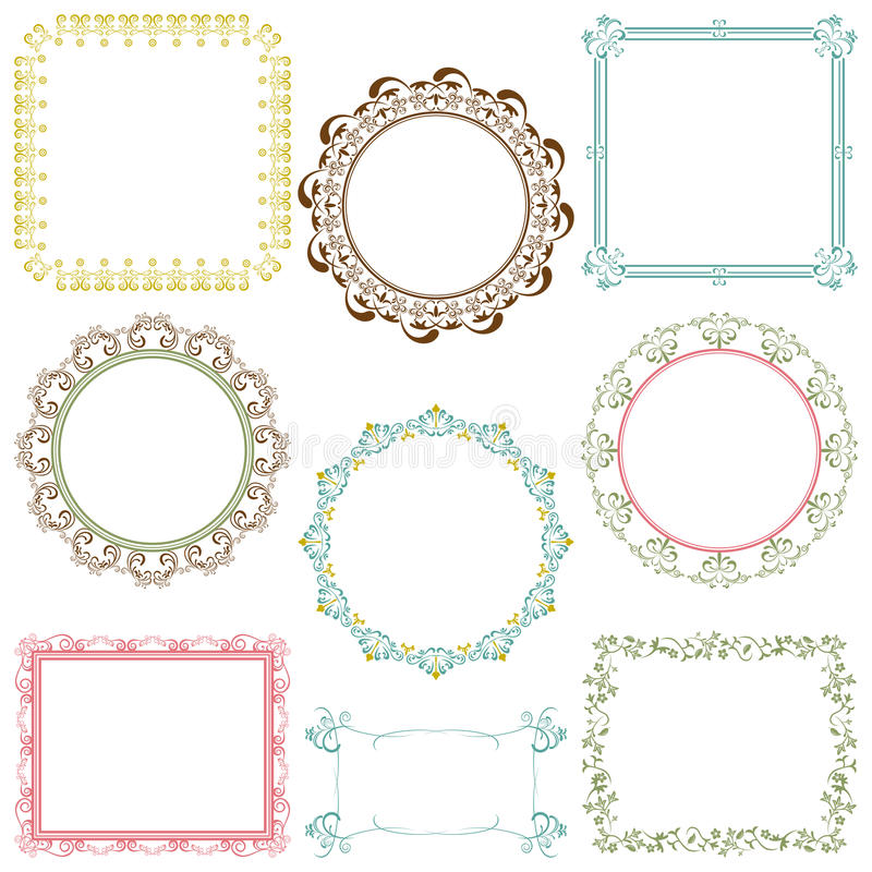 Download Abstract Retro Frame Elements Set Stock Vector - Image: 17273389