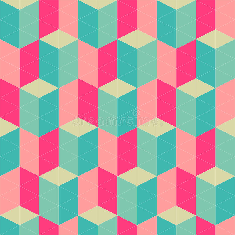 Abstract retro geometric seamless pattern stock for Object pool design pattern