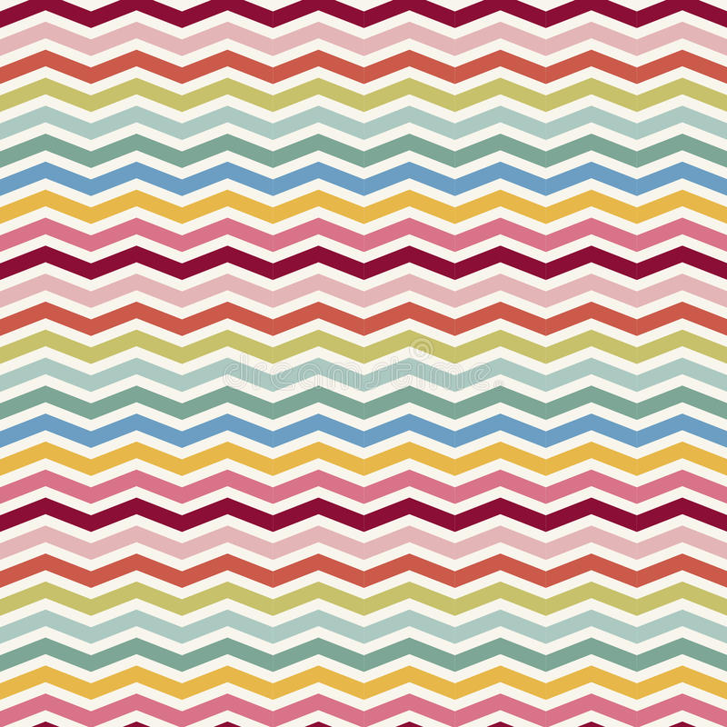 Abstract Retro Geometrisch naadloos patroon met vector illustratie