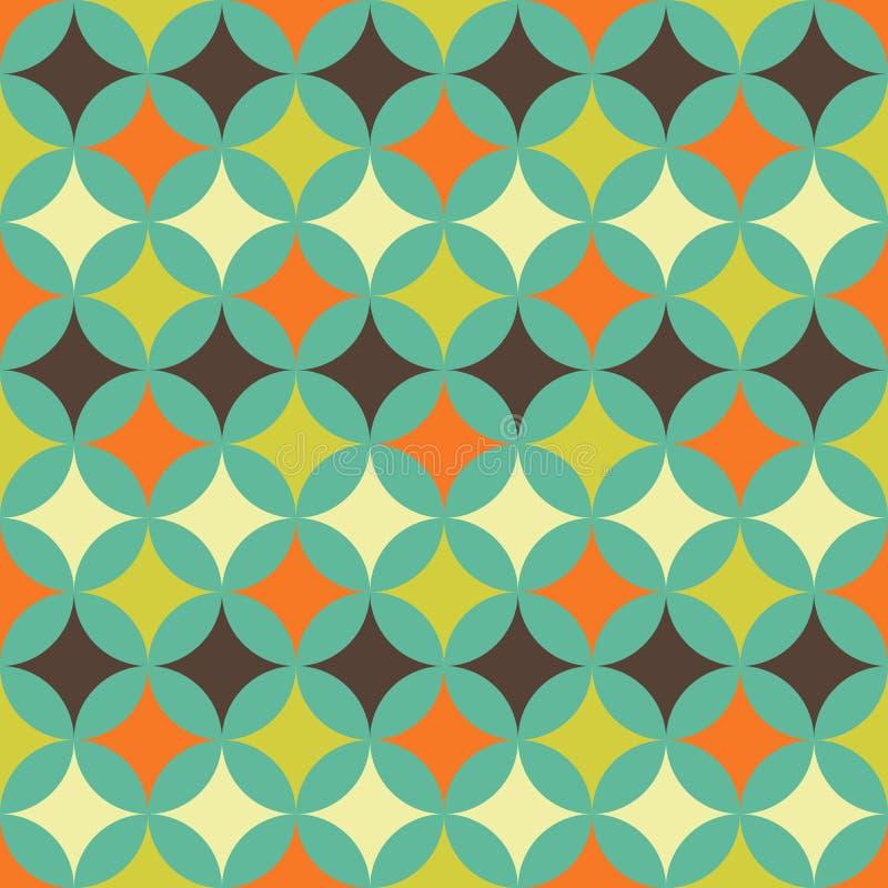 Abstract retro geometrisch patroon stock illustratie