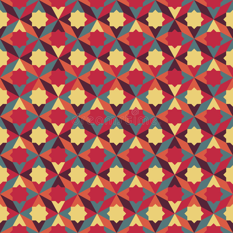 Abstract retro geometrisch patroon royalty-vrije illustratie