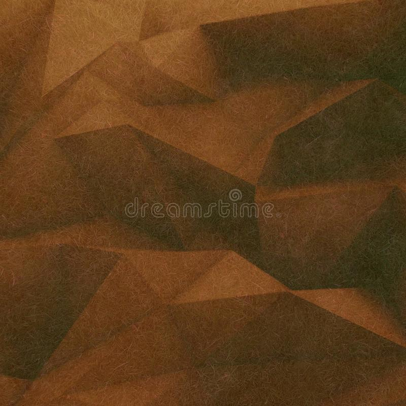 Abstract retro low poly background brown soft color textured with small thin fiber stock illustration