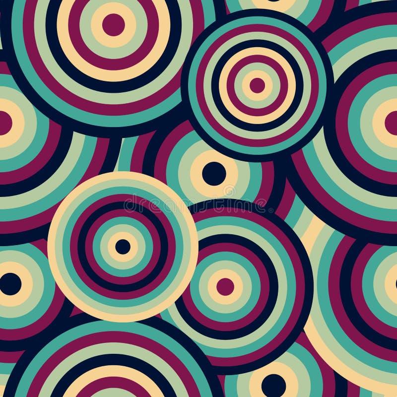 Abstract Retro Naadloos Backround-Schijven Purper Uitstekend Naadloos Patroon die Patroon herhalen vector illustratie