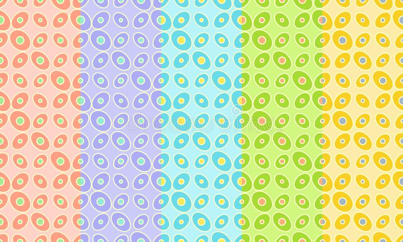 Abstract retro seamless pattern. Simple bright ornament for textile, prints, wallpaper, wrapping paper, web etc. Available in EPS vector illustration