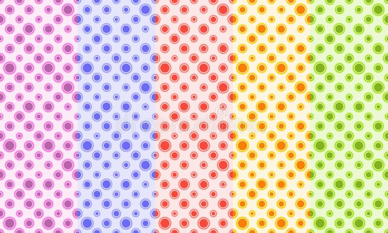 Abstract retro seamless pattern. Simple dotted ornament for textile, prints, wallpaper, wrapping paper, web etc. Available in EPS royalty free illustration