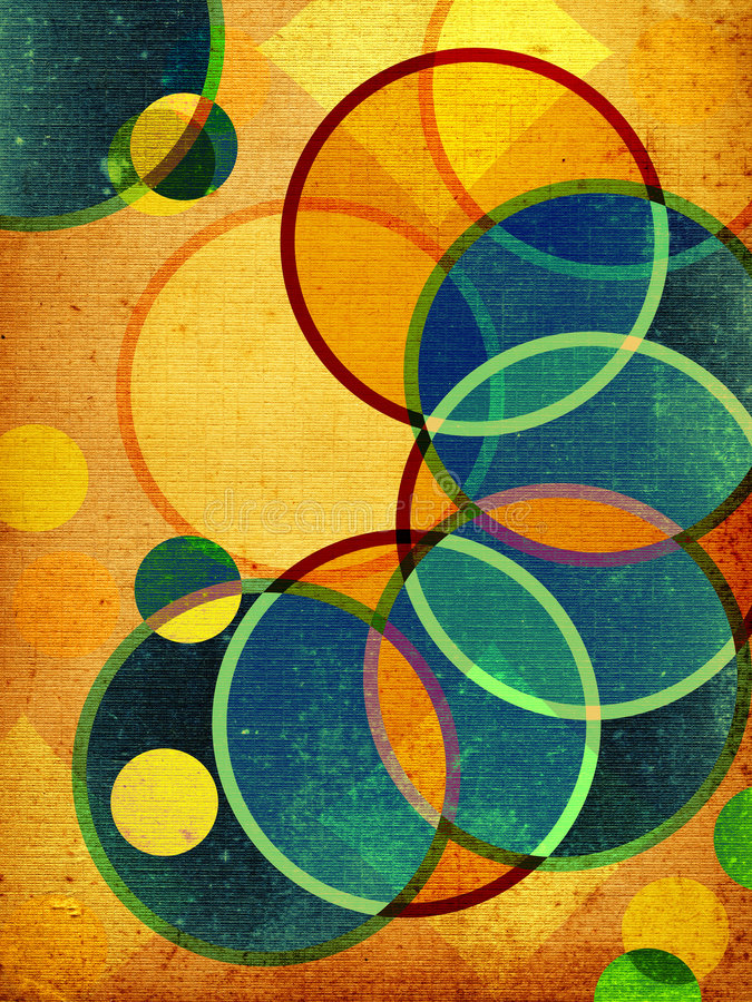 Abstract retro shapes vector illustration