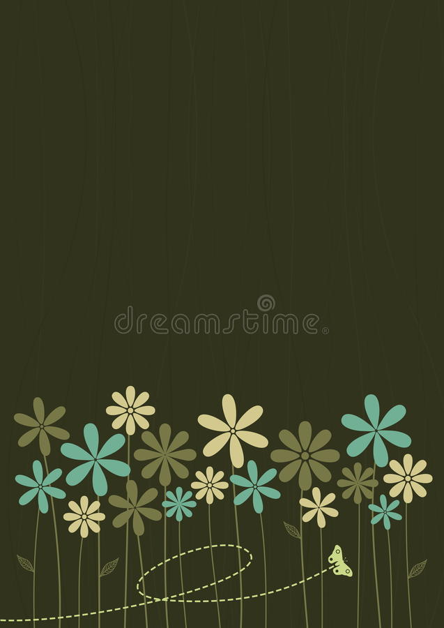 Download Abstract Retro Style Floral Background Stock Vector - Image: 9602120