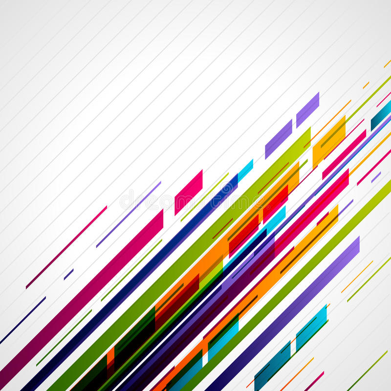 Abstract retro technology lines in perspective vector illustration