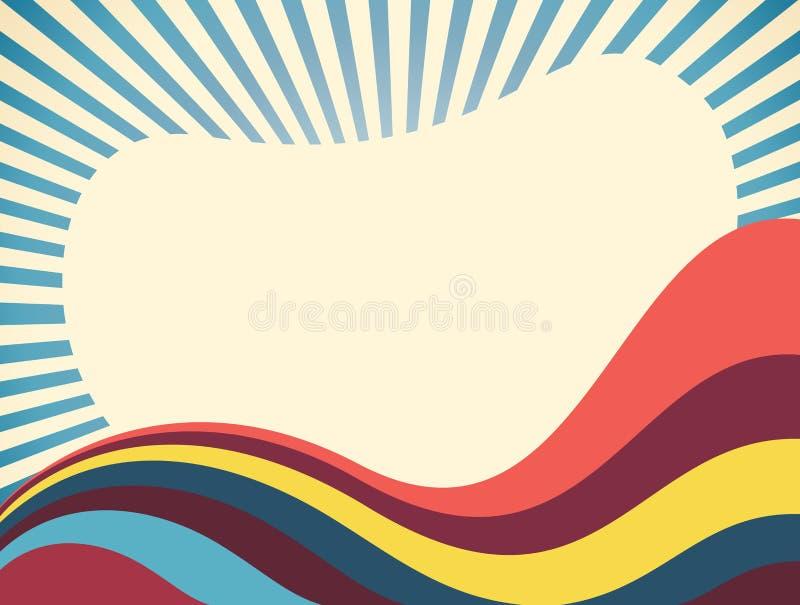 Abstract Retro Vector Background Stock Photos