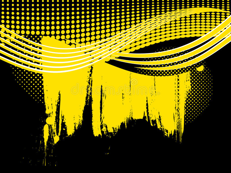 Download Abstract Retro Yellow Wave Background Stock Vector - Image: 27676031