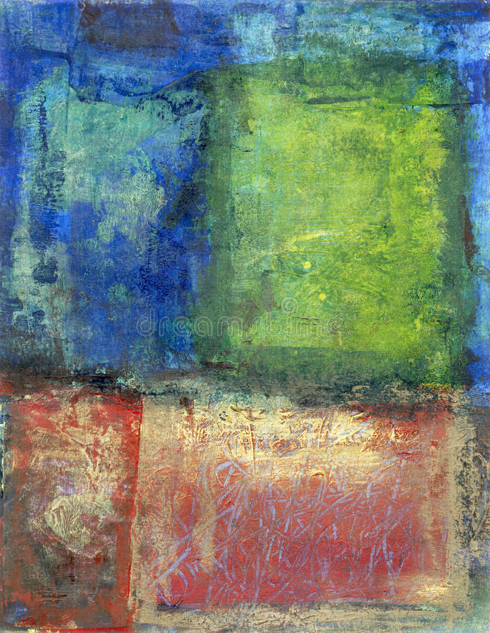 Abstract RGB Painting. Abstract painting with the colors red. green and blue stock photography