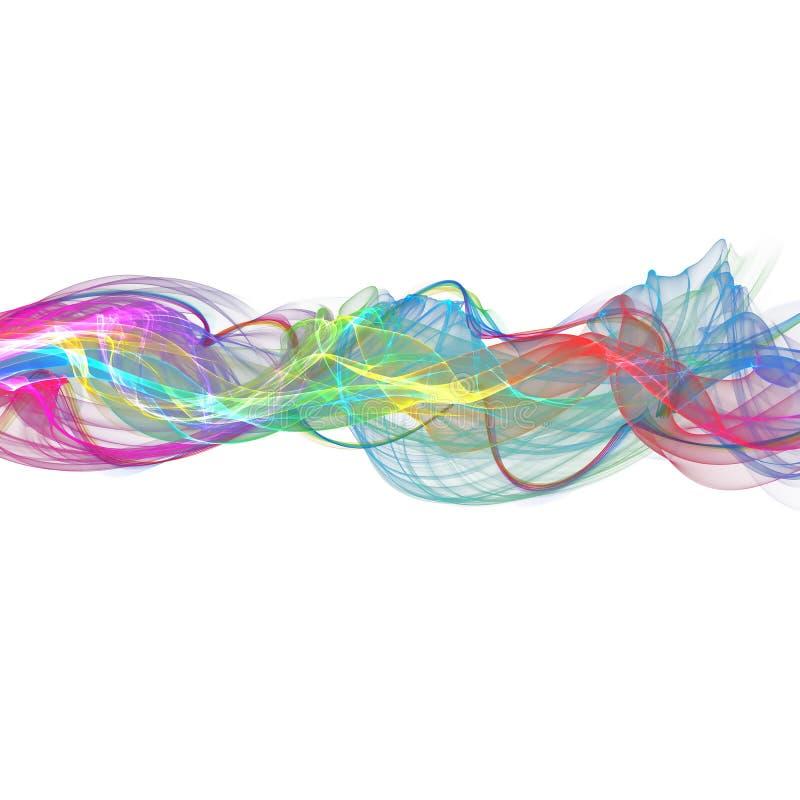 Abstract ribbon waves stock illustration