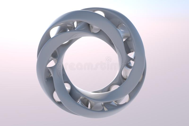 abstract ring made in 3D royalty free stock photography