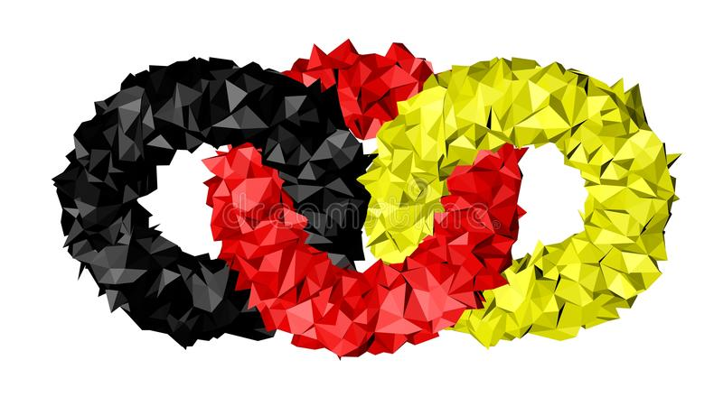 Download Rings flag of Germany stock illustration. Illustration of chain - 29971880