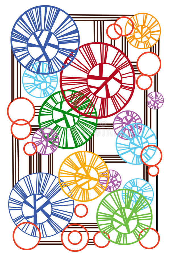 Download Abstract Of The Rings And Lines Stock Vector - Illustration: 43405363