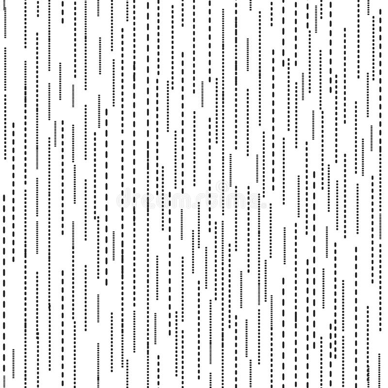 Abstract ripple line seamless pattern. Black and white ripple blot texture. royalty free illustration