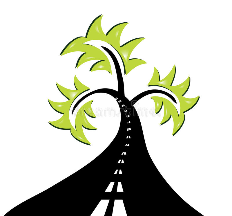 Download Abstract road tree stock vector. Image of fake, graphic - 18458761