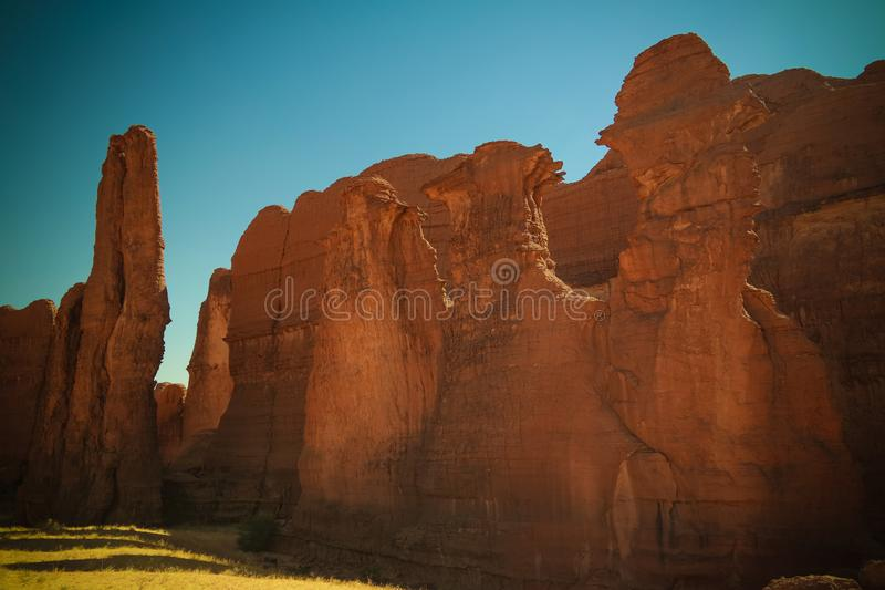Abstract Rock formation at plateau Ennedi aka stone forest in Chad stock images