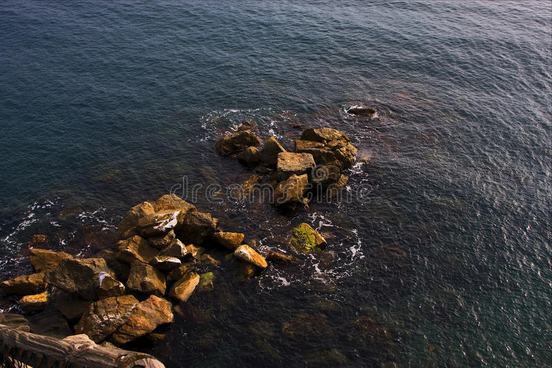 Abstract rock water and coastline stock photo