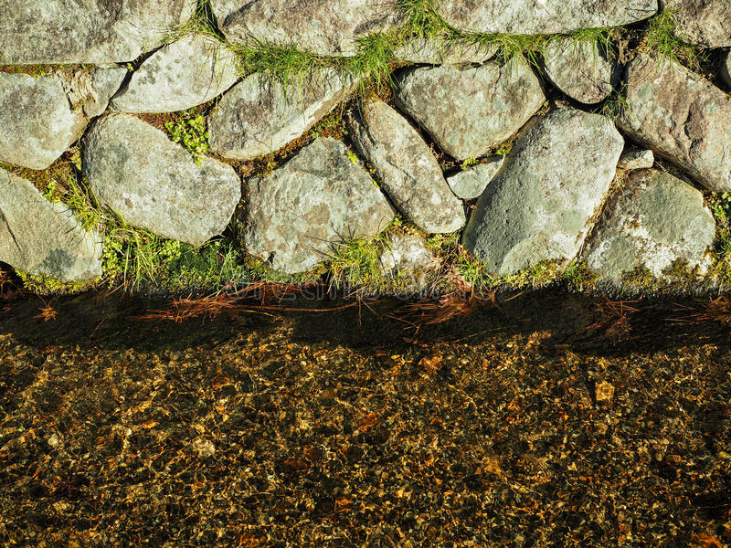 Abstract rock with water flow. stock photos