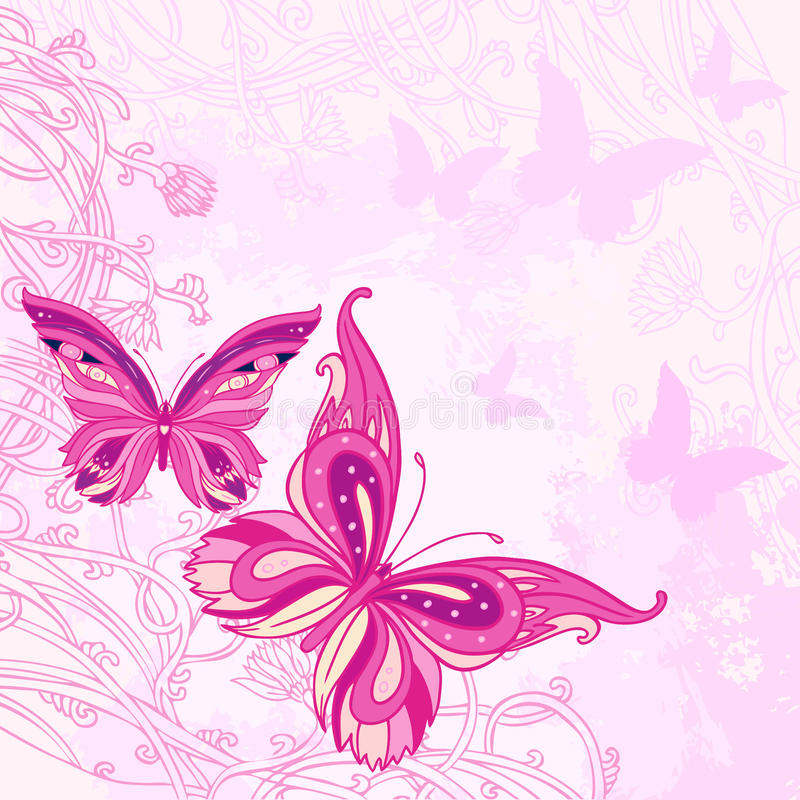 Abstract romantic vector background stock illustration