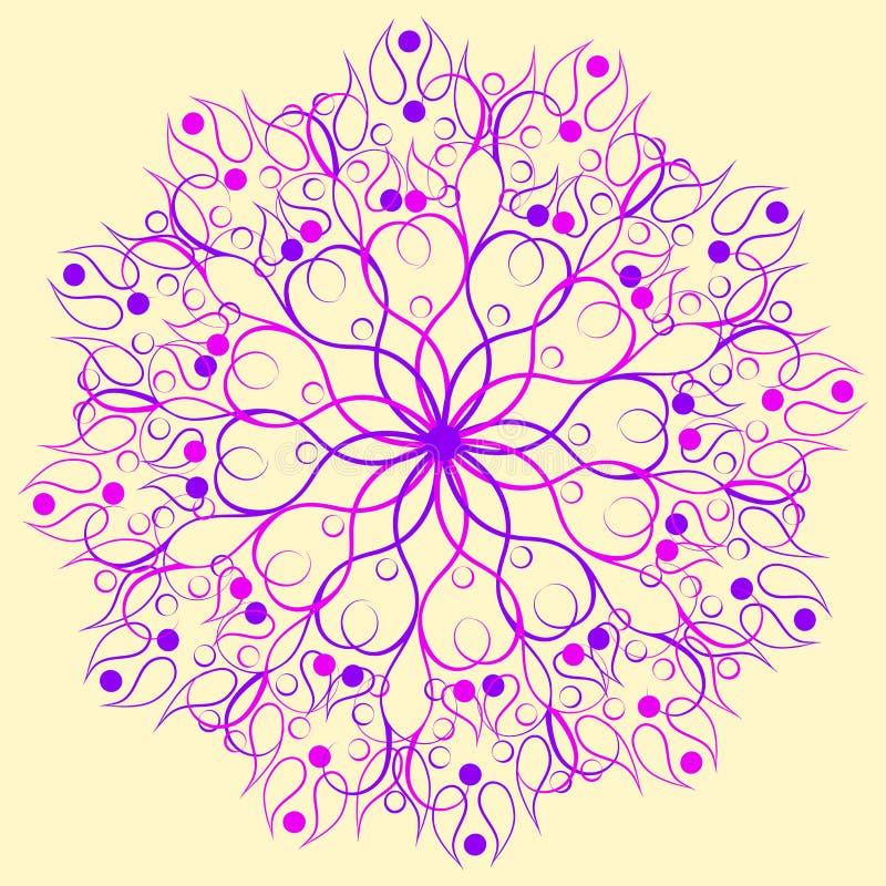Abstract Rond Ornamentpatroon mandala royalty-vrije illustratie