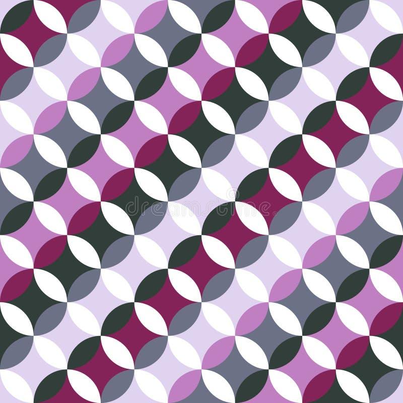 Abstract rond patroon Gebaseerd op Traditioneel Japans Borduurwerk stock illustratie